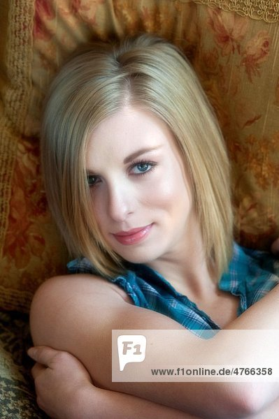 Portrait of a 19 year old blond woman