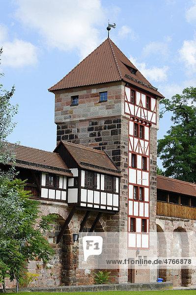 Wehrturm an der Maxtormauer  Nürnberg  Mittelfranken  Franken  Bayern  Deutschland  Europa Wehrturm an der Maxtormauer, Nürnberg, Mittelfranken, Franken, Bayern, Deutschland, Europa