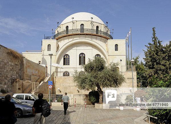 Ramban-Synagoge  jüdisches Viertel in der Altstadt von Jerusalem  Israel  Naher Osten  Vorderasien