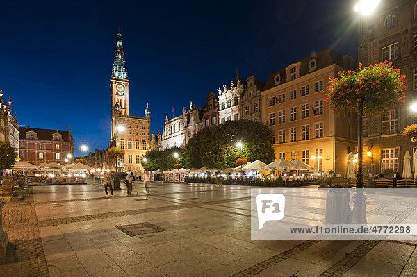 Rechtstädtisches Rathaus  Langer Markt  Dlugi Targ  Danzig  Gdansk  Pommern  Polen  Europa
