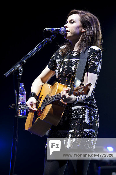 Scottish singer-songwriter Amy Macdonald performing live at the Hallenstadion multi-purpose facility in Zurich  Switzerland  Europe