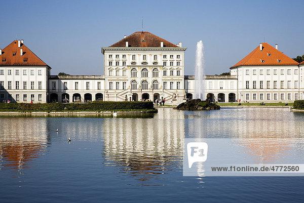 Schloss Nymphenburg  München  Oberbayern  Bayern  Deutschland  Europa