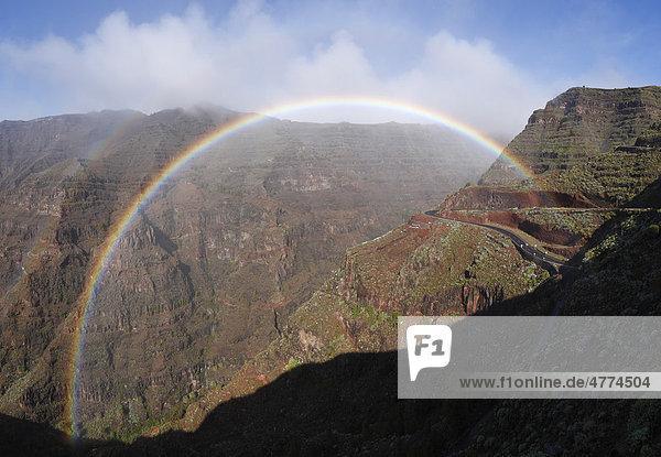 Regenbogen  Valle Gran Rey  La Gomera  Kanaren  Spanien  Europa