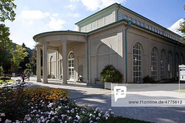 Wandelhalle  Kurpark  Bad Kissingen  Unterfranken  Bayern  Deutschland  Europa