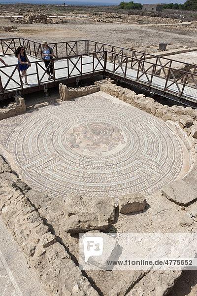 Mosaik  Ausgrabungsstätte von Kato Paphos  Haus von Theseus  UNESCO Weltkulturerbe  Pafos  Zypern