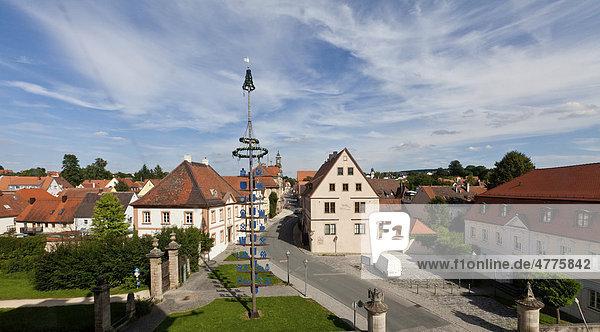 Altstadt Ellingen  Kreis Weißenburg-Gunzenhausen  Mittelfranken  Franken  Bayern  Deutschland  Europa