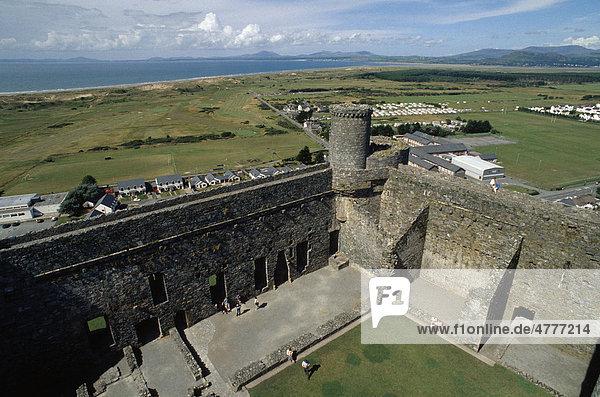 Burg von Harlech  Wales  Großbritannien  Europa