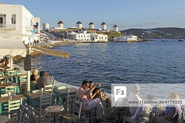 Klein Venedig  Mykonos Stadt  Insel Mykonos  Kykladen  Ägäis  Griechenland  Europa