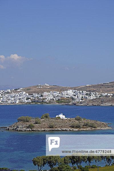 Insel in der Kolymbithres-Bucht  Insel Paros  Kykladen  Ägäis  Griechenland  Europa