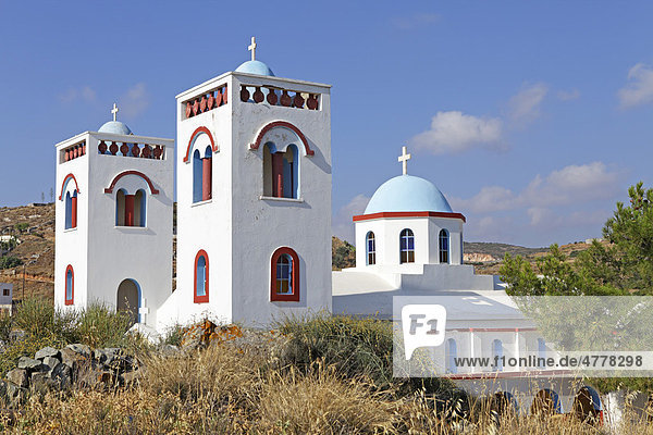 Kirche in Vivlos  Insel Naxos  Kykladen  Ägäis  Griechenland  Europa