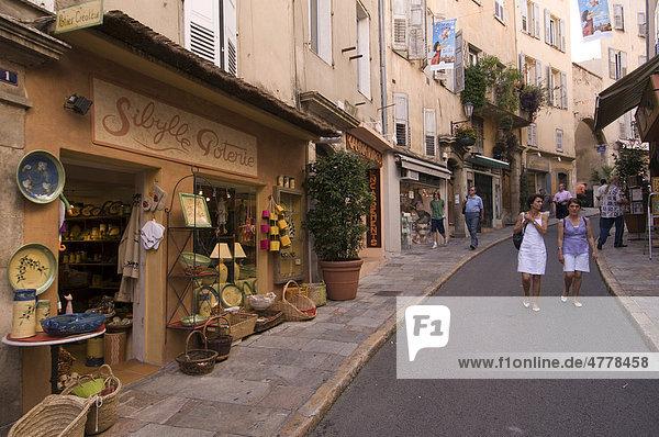 Laden in der rue Amiral de Grasse  Grasse  Provence  Frankreich  Europa