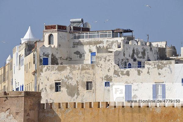 Sqala de la Kasbah  fortifications of the historic town of Essaouria  Mogador  Unesco World Heritatge Site  Morocco  Africa