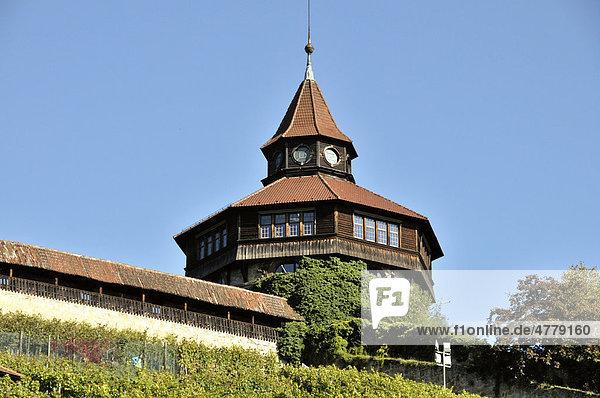 Dicker Turm an der Esslinger Burg  Esslingen am Neckar  Baden-Württemberg  Deutschland  Europa
