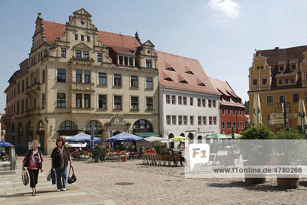 Marktplatz  Meißen  Sachsen  Deutschland  Europa