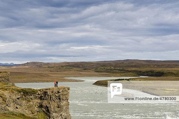 Gullfoss waterfall near Reykjavik  Iceland  Scandinavia  Europe