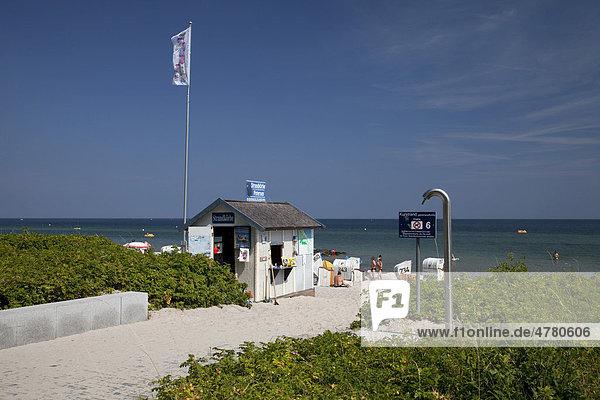 Zugang zum Strand  Ostseebad Hohwacht  Hohwachter Bucht  Ostseeküste  Schleswig-Holstein  Deutschland  Europa