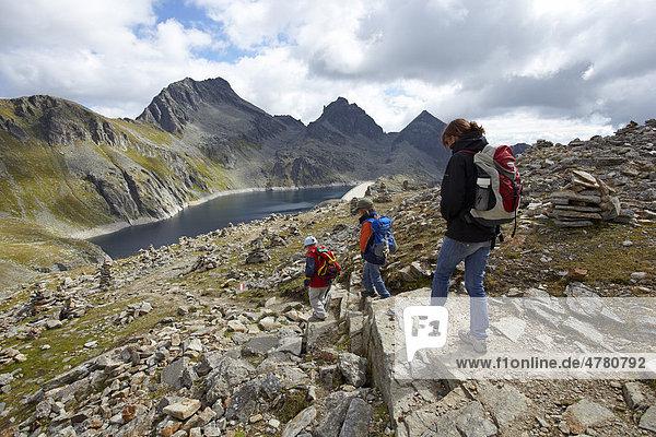 Wandern im Reisseckgebiet  Kleiner Mühldorfer See  Hohe Tauern  Kärnten  Österreich  Europa