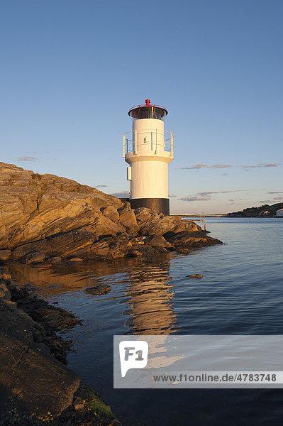 Leuchtturm  Mollösund  Västra Götalands län  Schweden  Europa