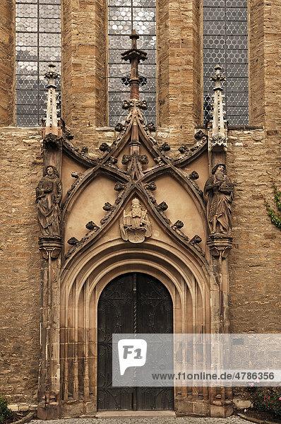 Eingangsportal zur Domkapelle des Merseburger Doms  Domplatz 7  Merseburg  Sachsen-Anhalt  Deutschland  Europa