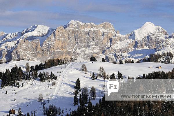 Blick von Hotel Col Alt auf den Piz Boe  Sella-Gruppe  Alta Badia  Südtirol  Italien  Europa