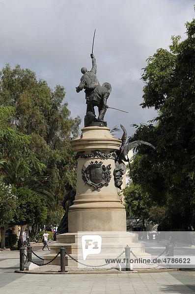 Denkmal Vara de Rey  Eivissa  Ibiza-Stadt  Ibiza  Pityusen  Balearen  Spanien  Europa