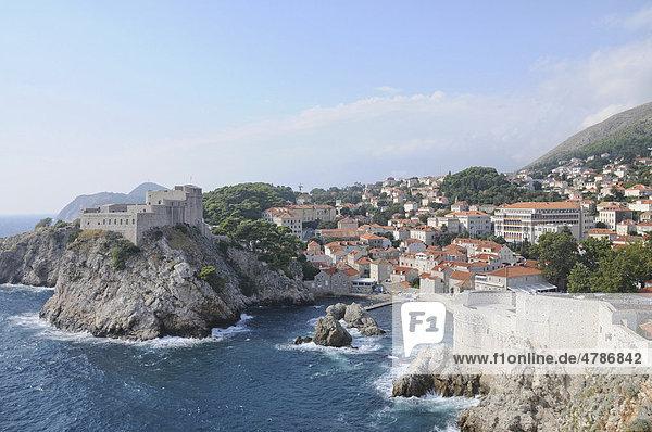 Festung Lovrijenac  Dubrovnik  Republik Kroatien  Europa