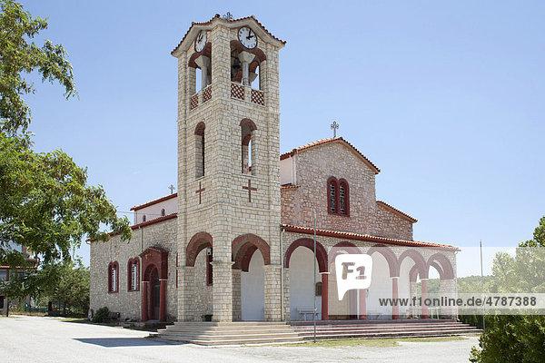 Kirche in Paleokastro auf der Halbinsel Chalkidiki  Makedonien  Griechenland  Europa