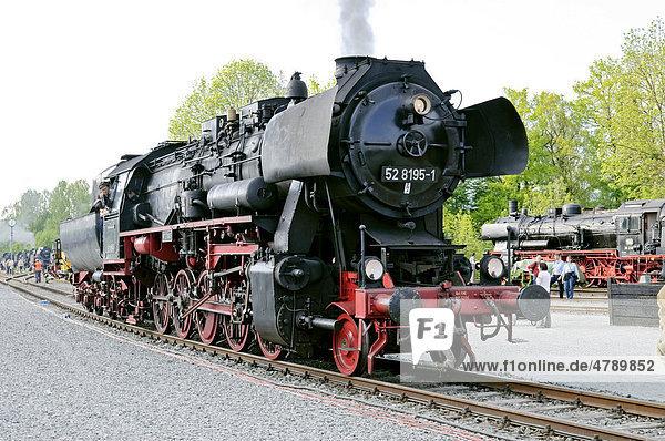 BR 52 Dampflokomotive  Deutsches Dampflokomotiv-Museum  Neuenmarkt  Franken  Bayern  Deutschland  Europa