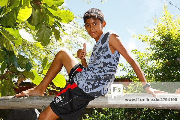 Cool boy posing lika a macho  Fortaleza  Cear·  Brazil  South America