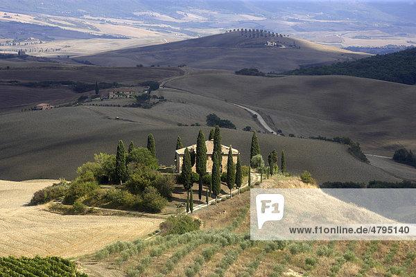 Villa Belvedere  Val d'Orcia  Toskana  Italien  Europa