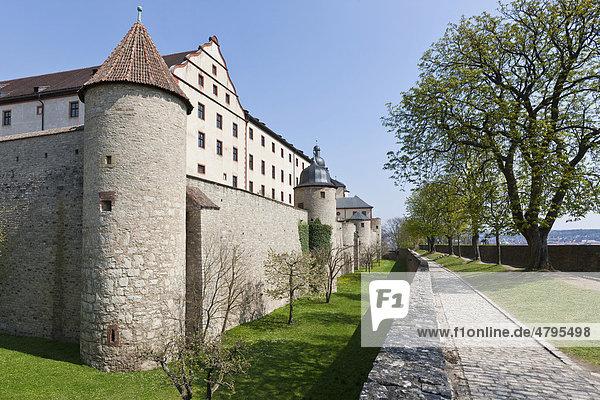 Festung Marienberg  Würzburg  Franken  Bayern  Deutschland  Europa