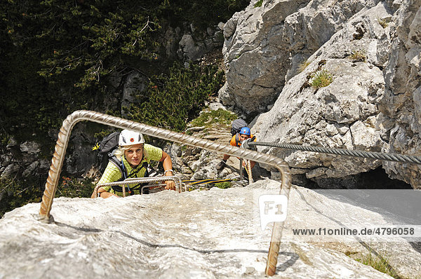 Klettersteig Chiemgau : Austrianimages schuasta gangl gamssteig klettersteig