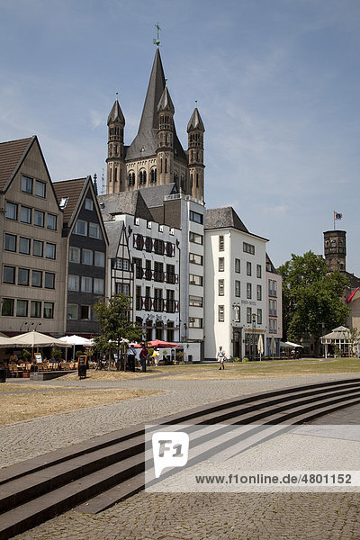 Altstadt  Groß St. Martin  Köln  Nordrhein-Westfalen  Deutschland  Europa