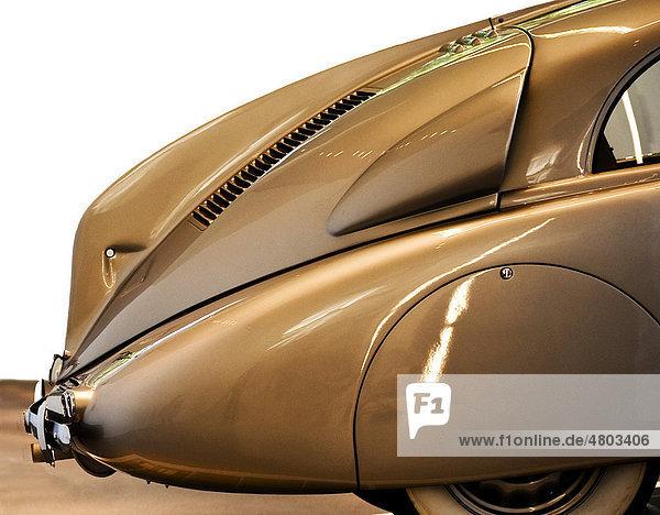 Auto  Modell Tatra 87  Detail der Heckpartie