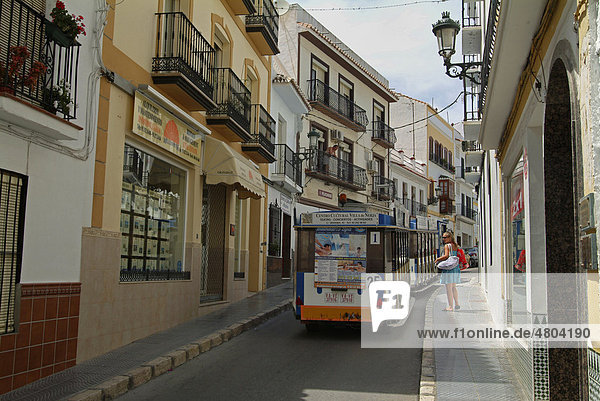 Street  shops in Nerja  Malaga province  Andalusia  Costa del Sol  Spain  Europe