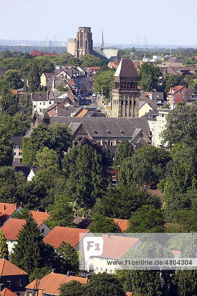 Blick über den Stadtteil Buer  Gelsenkirchen  Nordrhein-Westfalen  Deutschland  Europa