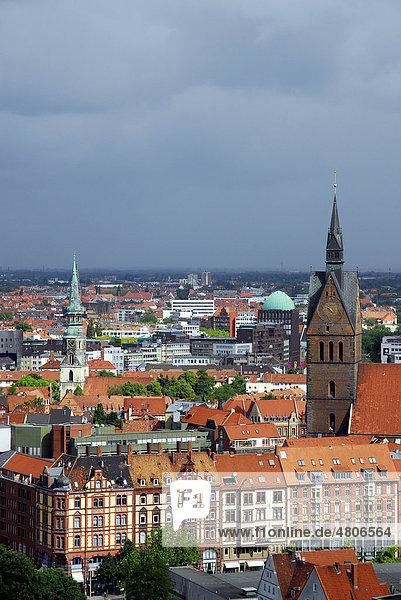 Stadtansicht mit Marktkirche in der Altstadt  Hannover  Niedersachsen  Deutschland  Europa