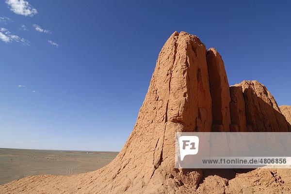 Rote Felsen  Flaming Cliffs  Wüste Gobi  Bayanzag  Gurvan Saikhan Nationalpark  Ömnögov Aimak  Mongolei  Asien