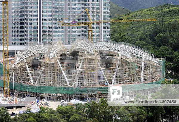 Gerust Aus Bambus Hong Kong China Asien Iblpkp01642718