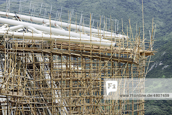 Gerust Aus Bambus Hong Kong China Asien Iblpkp01642719