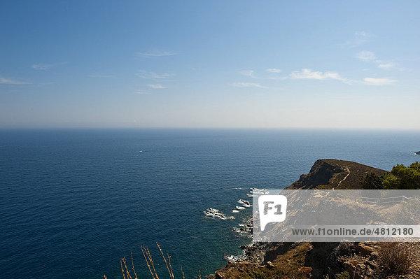 Cap Rederis  Cote Vermeille  bei Colliure und Banyuls  Languedoc-Roussillon  Südfrankreich  Frankreich  Europa