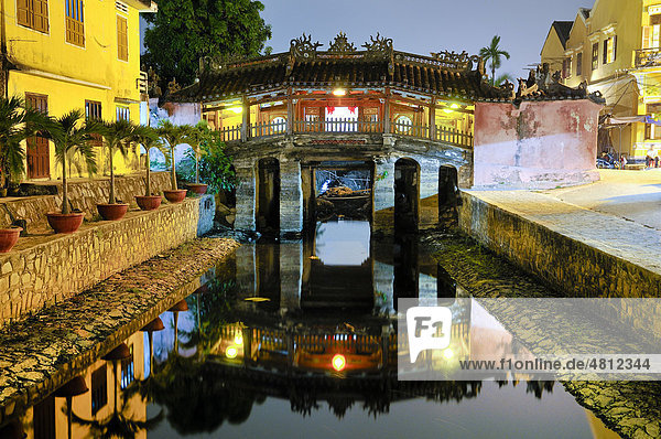 Japanische Brücke  Hoi An  Vietnam  Südostasien