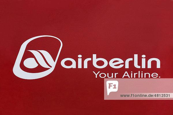 logo airberlin your airline deutsche fluggesellschaft lizenzpflichtiges bild bildagentur. Black Bedroom Furniture Sets. Home Design Ideas