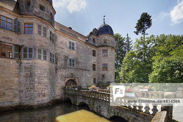 Wasserschloss Mitwitz  Oberfranken  Franken  Bayern  Deutschland  Europa