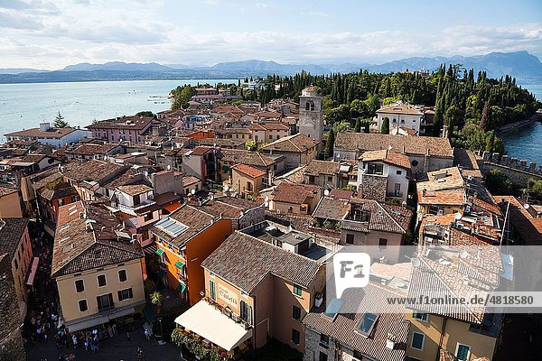 Sirmione skyline  Lake Garda  Italy
