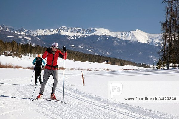 Granby  Colorado - Cross-country skiing at Snow Mountain Ranch in the Rocky Mountains The ranch is operated by the YMCA