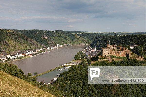 Europa  Deutschland  Rheinland-Pfalz  Blick auf Dorf und Schloss