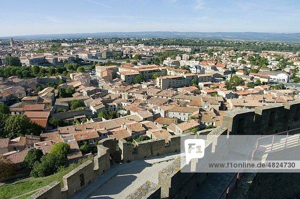 Frankreich  Aude  Carcassonne  Blick auf die Stadt