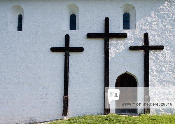 Österreich  Steiermark  Purgg-Trautenfels  Ansicht der johanneskapelle Fassade