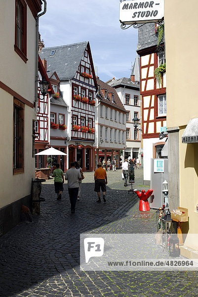 Gasse in der Altstadt von Mainz  Rheinland-Pfalz  Deutschland  Europa  Europa